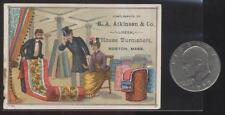BOSTON MA  VICTORIAN TRADE CARD  B.A. ATKINSON HOME FURNISHINGS 1880's/90's