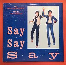 Paul McCartney Michael Jackson Say Say Say Disco Synth Pop COLUNBIA 1983 MINT