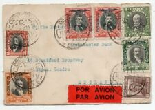 1934 Chile To Great Britain Cover, Impressive Airmail Stamps Franking