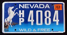 """NEVADA """" WILD & FREE - WILDLIFE HORSE """" 2015 NV Specialty Graphic License Plate"""