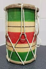More details for traditional vintage childs size drum. indian bhangra dhol