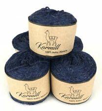 New listing Alpaca Wool Skeins 100% Baby Alpaca Yarn Lot of 5 Navy Blue Color C834