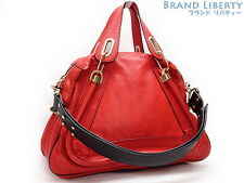 Auth Chloe Paraty 2WAY Hand bag Shoulder bag 3S0034