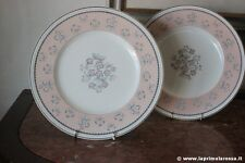 COPPIA PIATTI VINTAGE IN PORCELLANA WEDGWOOD MOTIVO PIMPERNEL BONE CHINA PLATES