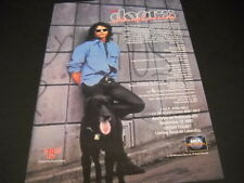 The DOORS Jim Morrison with black dog 1991 PROMO DISPLAY ADVERT mint condition