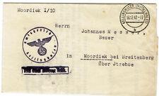 Dienstbrief 1942 Amtsgericht Kellinghusen nach Moordiek