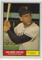 1961 TOPPS ORLANDO CEPEDA CARD #435 SAN FRANCISCO GIANTS NICE!