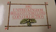 1987 United Kingdom  UNC 7 Coin Collection Set - Royal Mint