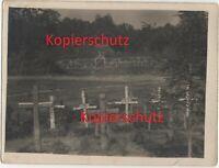 WK1 Foto Galizien Gräber Friedhof Friedhöfe Soldaten Holzkreuze 2201
