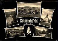 SCHMIEDEFELD Rennsteig DDR s/w AK Mehrbildkarte 1965 Postkarte Thüringen