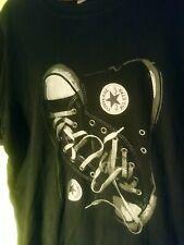 converse chuck taylor tshirt black Sz L