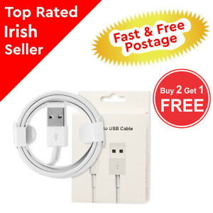 1m Genuine USB Charger Data Sync Cable, Lead For Apple IPhone 5 6 7 8 X XR 11Pro