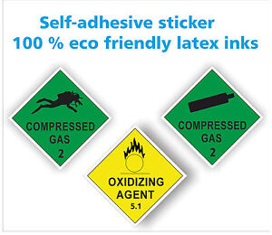Compressed Gas Air Cylinder Printed Decal Sticker Scuba Diving Nitrox On Board