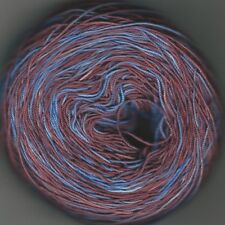 Hand dyed Crochet/ tatting thread size 10 solid brown and blue