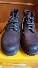 CAR SHOES BY PRADA SCHUHE SCHNÜRSTIEFEL LACED BOOTS LEDER ROTBRAUN US 12 EUR 45