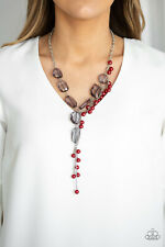 Prismatic Princess Red Necklace By: Paparazzi