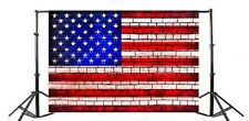 Us Flag Brick Wall Photography Backgrounds 7x5ft Scene Patriotic Photo Backdrop