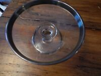 """Vintage Silver and Glass Trophey  Cup May 1921 W G C  award for """"First Net"""""""