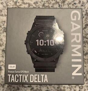 Garmin tactix Delta Solar Edition 35.5mm Black Steel Case and Black Nylon Band,