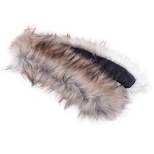 Womens Men Winter Warm Faux Fur Fluffy Collar Scarf Shawl Stole Wrap Scarves