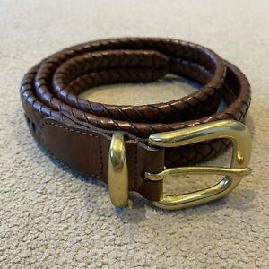 Coach Mens Genuine Leather Belt Brown Size Large