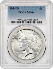 1934-D $1 PCGS MS64 - Peace Silver Dollar