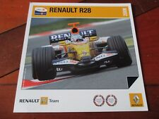 CARTE OFFICIELLE RENAULT F1 TEAM R28 SAISON 2008 FERNANDO ALONSO