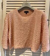 Topshop Pink Sequin Cropped Jumper Size 14
