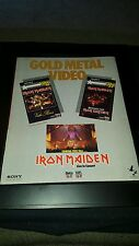 Iron Maiden Sony Gold Metal Video Rare Original Promo Poster Ad Framed!