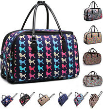 Ladies Women's Travel Holdall Trolley Luggage Bag With Wheels Holiady Bags
