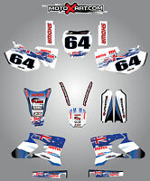 Full  Custom Graphic  Kit -AUSSIE PRIDE - Yamaha YZ 250 F - 2003 - 2005 stickers