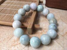 100% Natural Grade A Jade Jadeite 12mm Beads Bangle Bracelet  AA