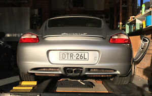 Tuned factory exhaust mufflers for Porsche Cayman Boxster 987.1