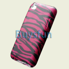 Pink Zebra GEL Cover Case Skin for Apple iPod Touch 4 4G 4TH