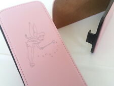 IPhone 4 TINKERBELL VERA PELLE ROSA flip Phone Cover 4S Fairy Fairies