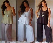 choose size & color pants palazzo OS L XL 1X 2X 3X 4X 5X 6X lycra gaucho plus