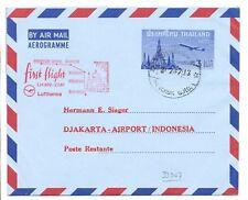 THAILAND 1967 AEROGRAMME  SPEC FL. TO DJAKARTA