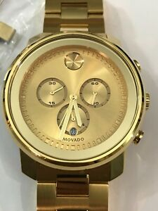 MOVADO Bold Champagne Dial Yellow Gold Ion-plated Men's Watch Item No. 3600278