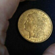 1921 - D Morgan silver dollar. Unmounted Circulated Ungraded