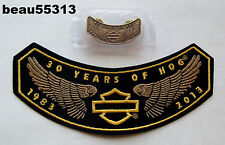 HARLEY DAVIDSON OWNERS GROUP HOG H.O.G. 2013 30th VEST PATCH PIN LOT SET