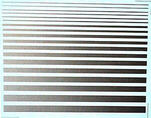Decorative Strip Stripes Silver Friezes Strips Silver 1:18 Decal