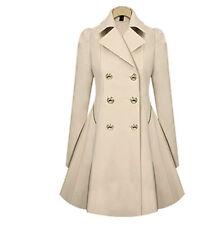 Fashion Women's Lady Slim Long Coat Jacket Lapel Windbreaker Parka Outwear Coat