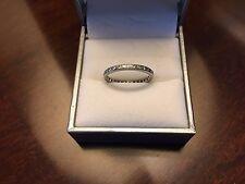 Antique Platinum Eternity Wedding Ring w/ Single Cut Diamonds. Approx. .33 cts