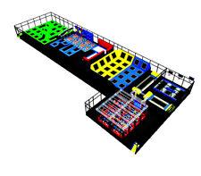 15,000 sqft Commercial Trampoline Park Ninga Climb Inflatable We Finance Turnkey