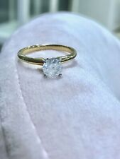 EGL USA 14K Gold 1.00 CT F-G Color I2 Diamond Wedding / Engagement Ring $5,000