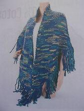 Châle triangle XL tricoté *** PARIS FASHION *** 220 x 200 cm NEUF