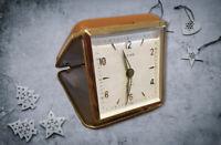 Vintage ALPINE  Square Travel Alarm Clock  2 Jewels  Japan. #A60