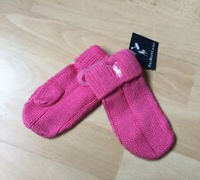 Polo Ralph Lauren Mittens Pink Girls Trendy Designer Authentic Rrp £35