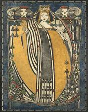 Mackintosh MacDonald Margaret Queen Of Clubs Canvas 16 x 20 #2874