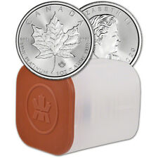 2020 Canada Platinum Maple Leaf 1 oz $50 - BU - 1 Roll Ten 10 Coins in Mint Tube